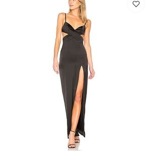 NEW NWT Lovers + Friends Savannah Gown in Black XS